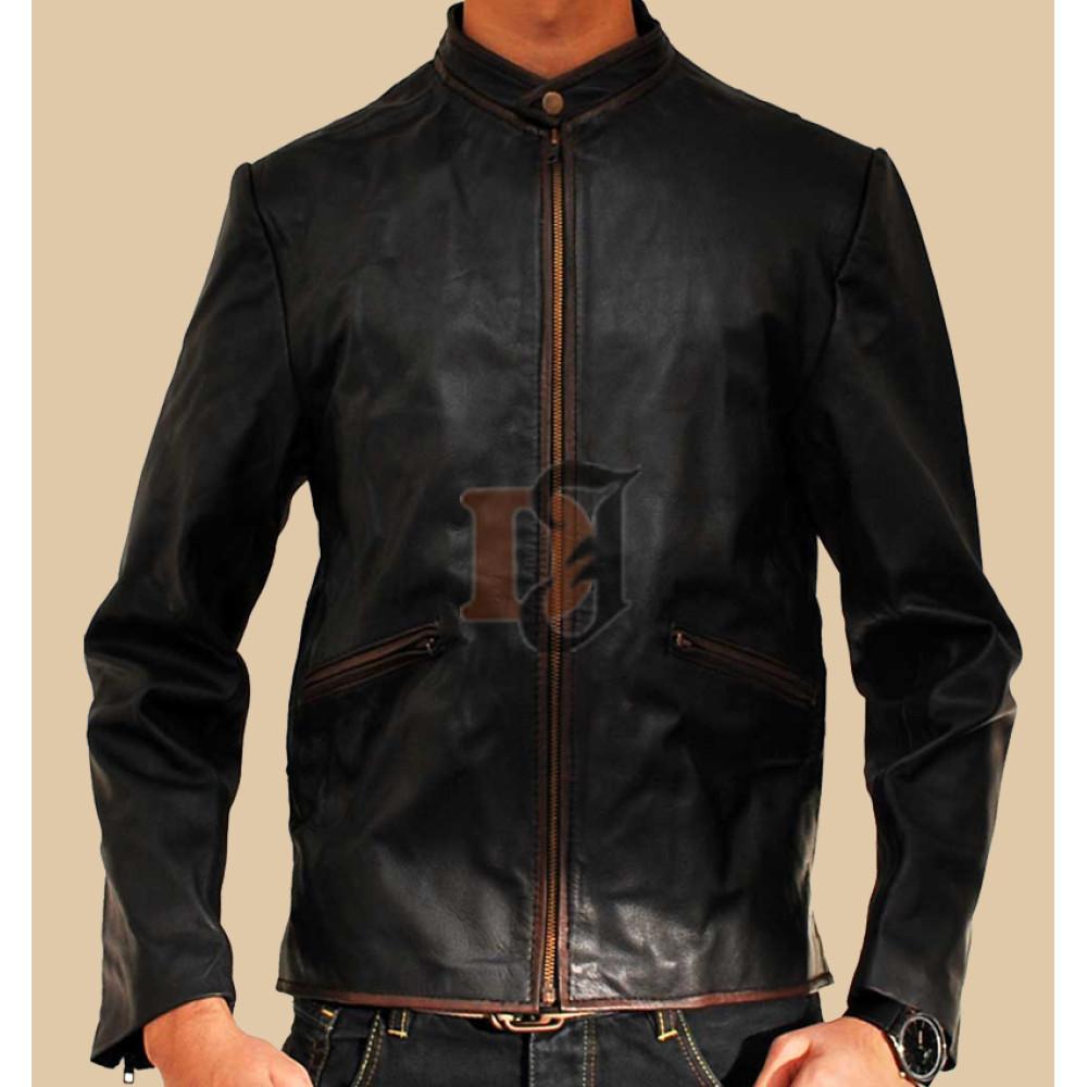 Buy Tron Legacy Garrett Hedlund Sam Flynn Leather Moto Jacket