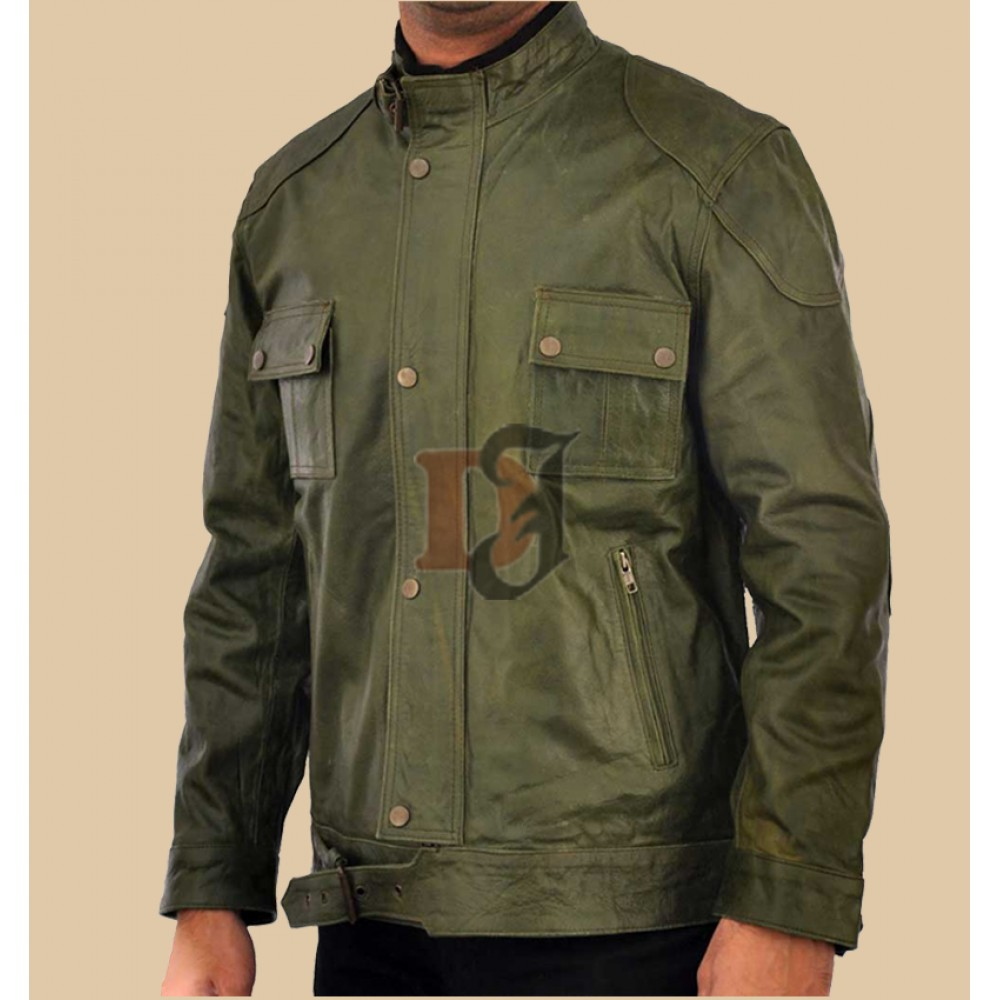 Wesley Gibson Green Leather Jacket | Green Jackets