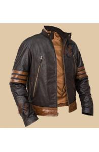 X-Men Origins Logan Wolverine Brown Biker Jacket | Movies Jackets