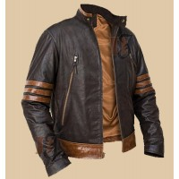X-Men Origins Logan Wolverine Brown Biker Jacket | Movies Jackets