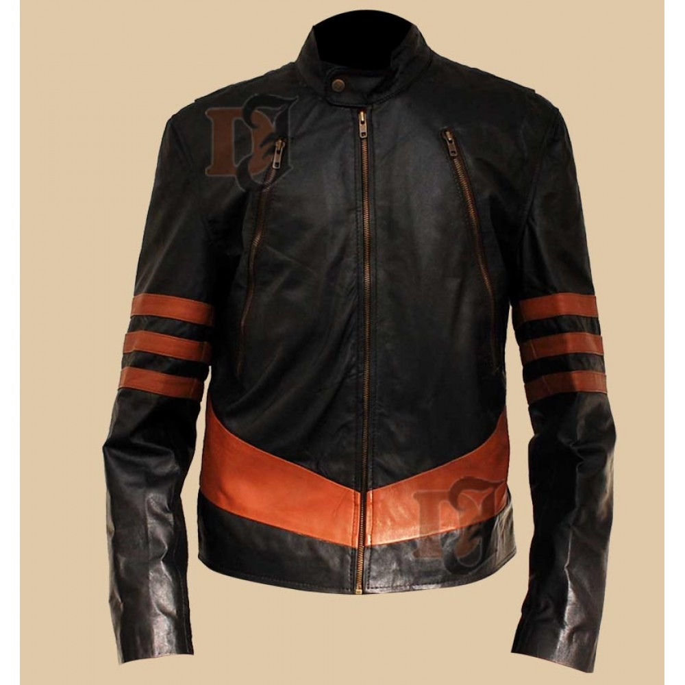 Mens Distressed Leather Jacket