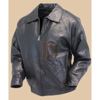 Men Black Bomber Leather Jacket   | Distressed Jackets