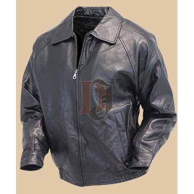 Men Black Bomber Leather Jacket   | Distressed Jackets