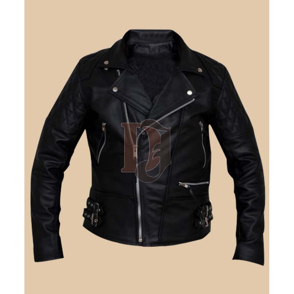 Men Black Biker Leather Jacket   Mens Black Biker Jackets