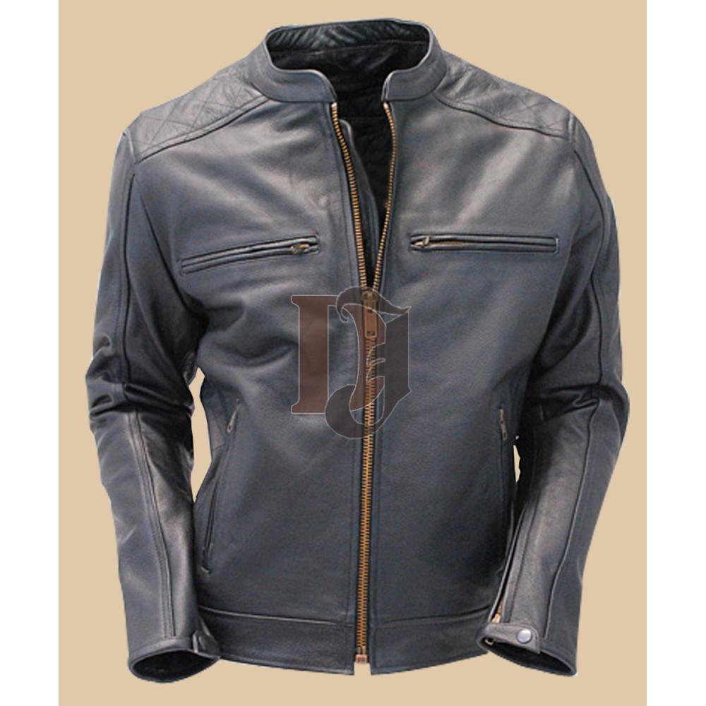 Men Black Stylish Leather Jacket