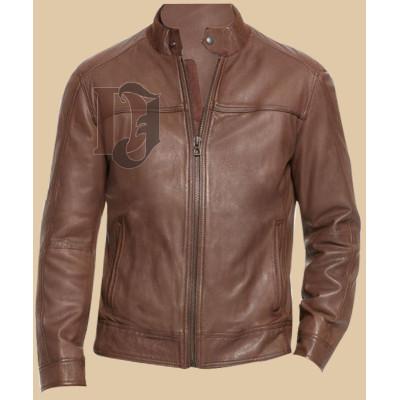 Men Brown Stylish Leather Jacket