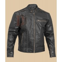 Black Biker Leather Jacket for Men | Black Leather Jacket