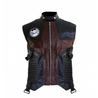 Avengers Age Of Ultron Womens Hawkeye Leather Vest  |  Women Vests