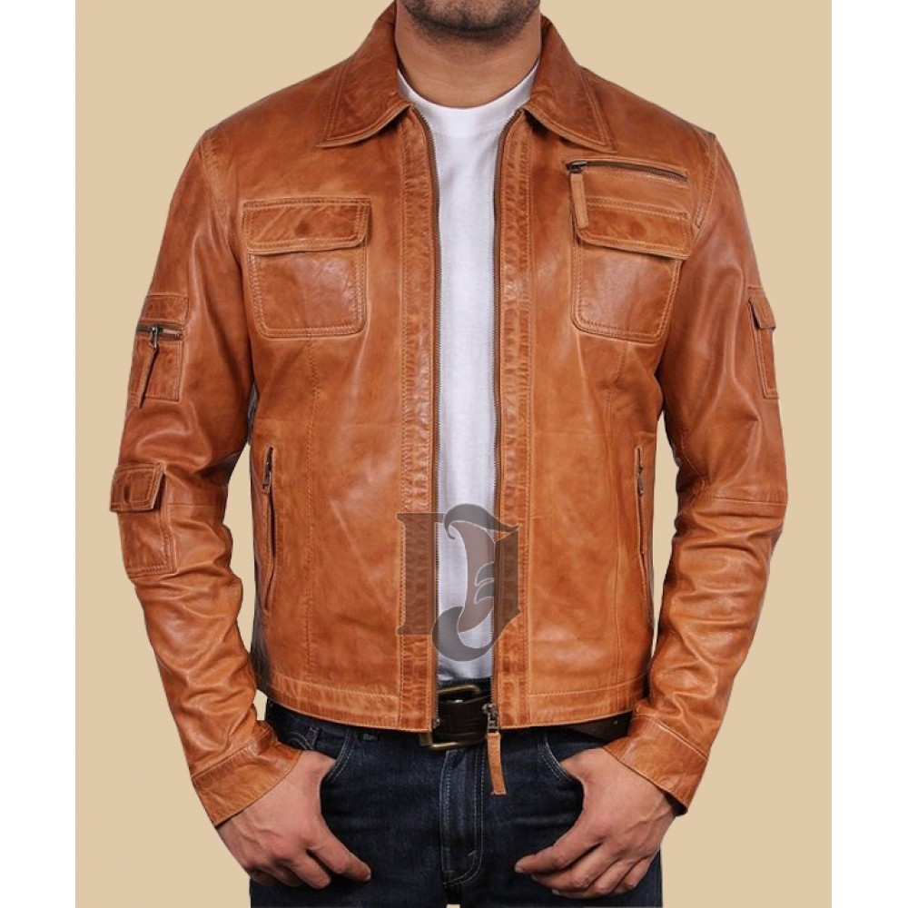 37250e473 Men's Leather Biker Jacket | Distressed brown Leather Jackets
