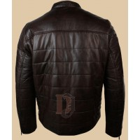 Mens Biker Style Slim Fit Real Leather Jacket