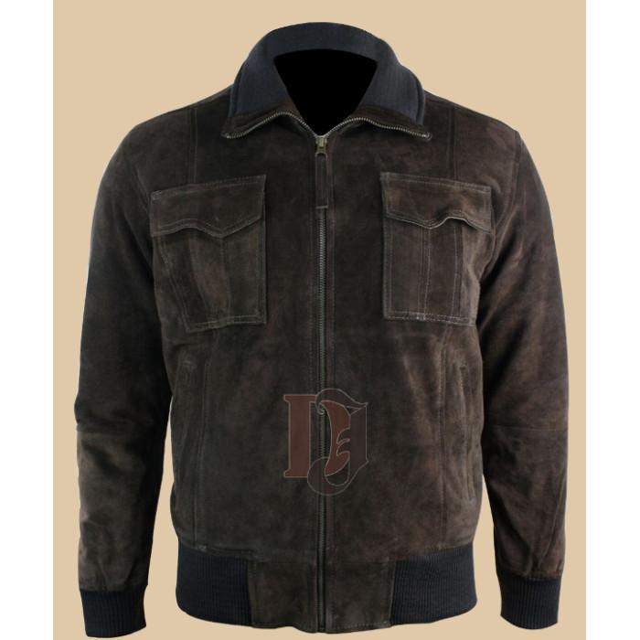 Buy Mens Dark Brown Bomber Smart Jacket