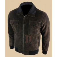 Mens Dark Brown Bomber Smart Jacket | Dark Brown Jackets