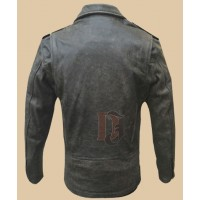 Mens Distressed Brown Motorcycle  Jacket