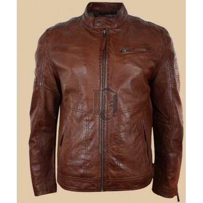 Mens Style Zipped Biker Jacket  | Distressed jackets