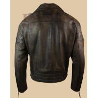 Men Vintage Brown Real Leather Jacket | Dark Brown Leather jackets