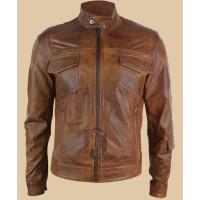Mens Vintage Brown Leather Jacket | Distressed Jackets
