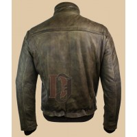 Men Zipped Bomber Jacket | Distressed Jackets