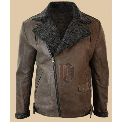 Men Tan Brown Vintage Leather Jacket | Distressed Brown Jackets