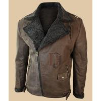 Men Tan Brown Vintage Leather Jacket | Distressed Brown Jackets