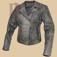 Women  Motorcycle Leather Jacket | Women Distressed Jackets