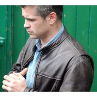 London Boulevard Colin Farrell Leather Jacket | Distressed Jackets
