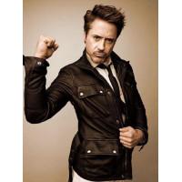Robert Downey Black Men's Leather Jacket | Superstar black jackets
