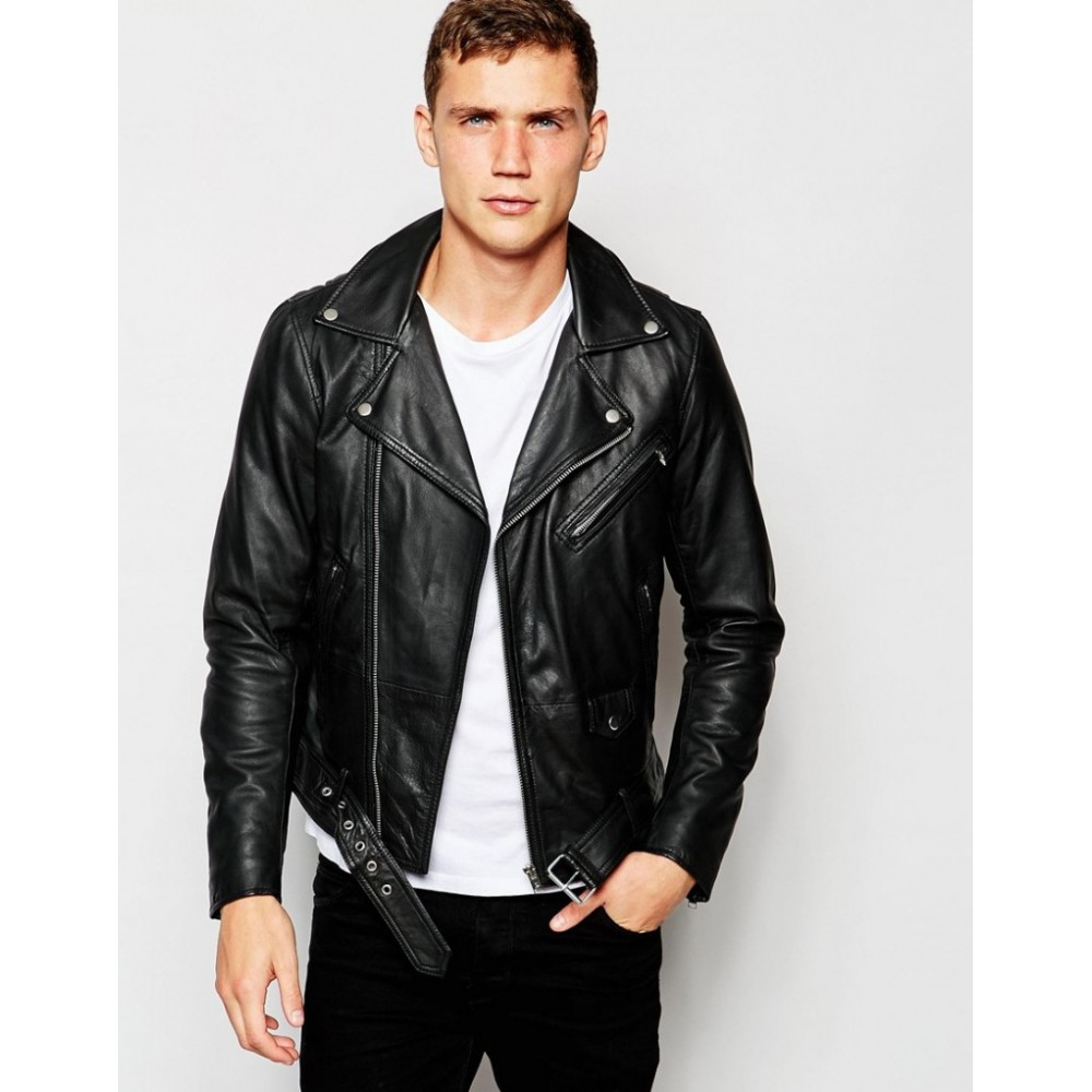Anton Yelchin Black Biker Leather Jacket | Black Leather Jackets