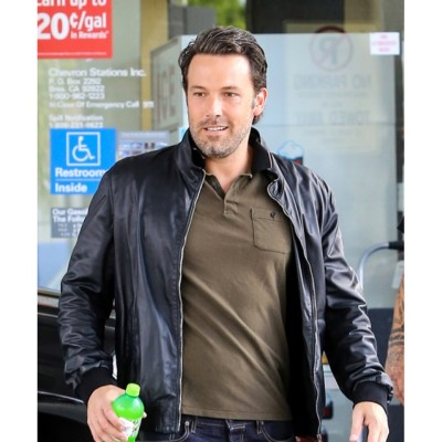 Ben Affleck Black Leather Jacket For Sale | Celebrities Jackets