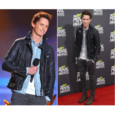 Fantastic Beasts Eddie Redmayne Leather Jacket | Celeb Black jackets