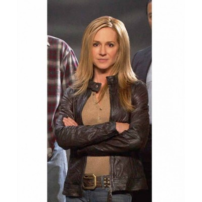 Saving Grace Holly Hunter Brown Leather Jacket | Women Black Jackets