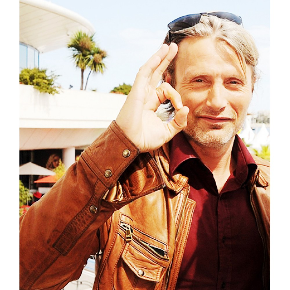 Mads Mikkelsen Leather Jackets | Brown Leather Jackets