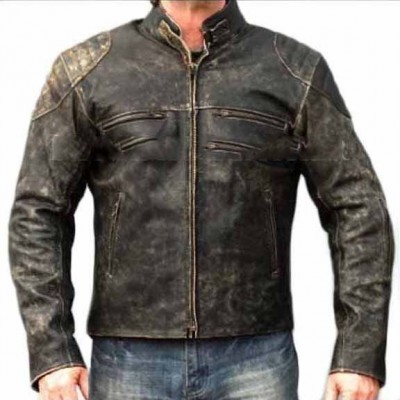 Mens Distressed Hooligan Leather Jacket | Distressed Leather Jackets