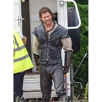 THE HUNTSMAN CHRIS HEMSWORTH HIGH QUALITY REAL LEATHER VEST