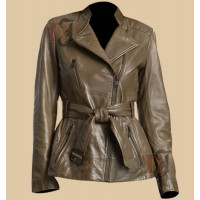 Slim Fit Light Golden Rider Jacket | Motorcycle Distressed Jackets