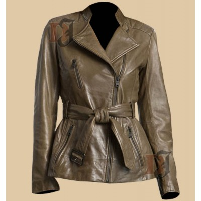 Slim Fit Light Golden Rider Jacket | Motorcycle Distressed Jackets