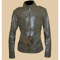Supernatural Julie McNiven Jacket | Distressed Leather Jackets