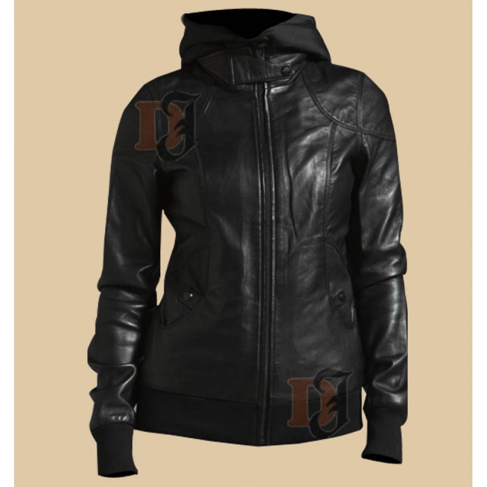 Womens Trendy Warm jacket |  Black Hoodie Jacket