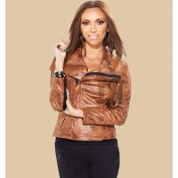 Limited Edition HSN Giuliana Rancic Brown Leather Jacket | Womens Jackets