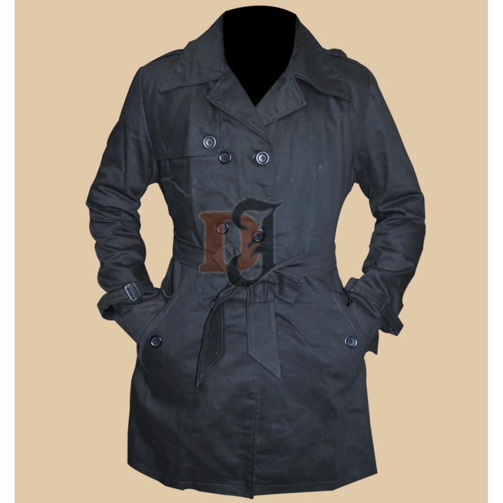 Silver Linings Playbook Jennifer Lawrence (Tiffany) Black Trench Coat