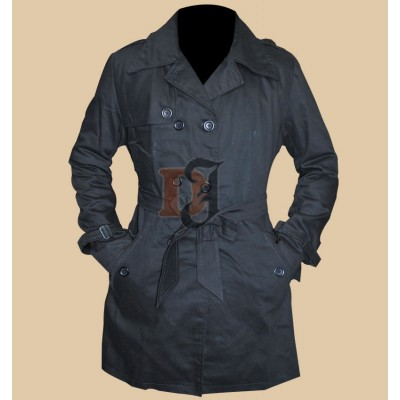 Silver Linings Playbook Jennifer Lawrence (Tiffany) Black Trench Coat