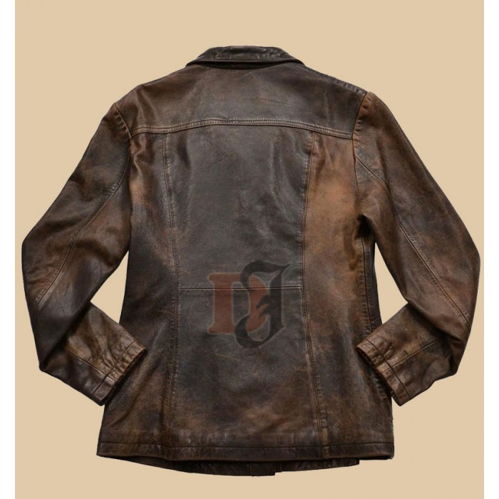 Buy Women Distressed Brown Stylish Faux Jacket