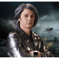 X MEN APOCALYPSE EVAN PETERS HIGH QUALITY REAL QUICKSILVER LEATHER JACKET