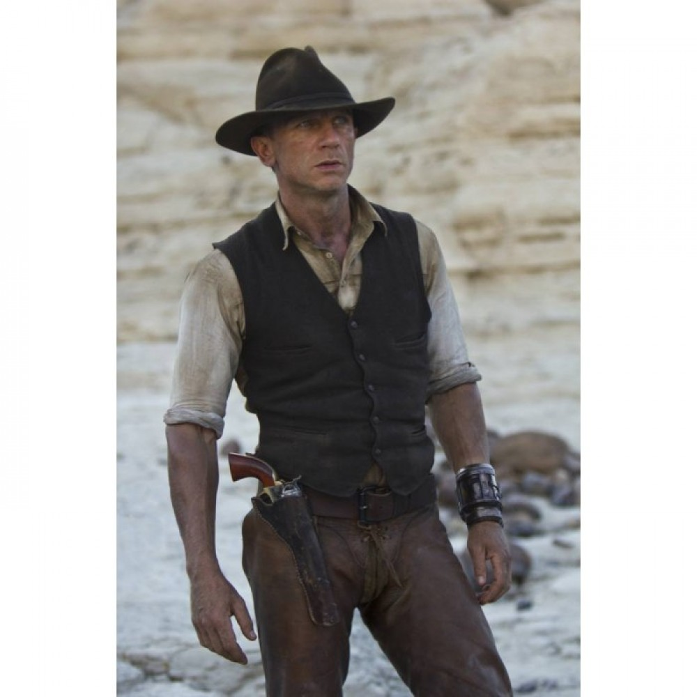 Daniel Craig Cowboys & Aliens (Jake Lonergan) Leather Vest
