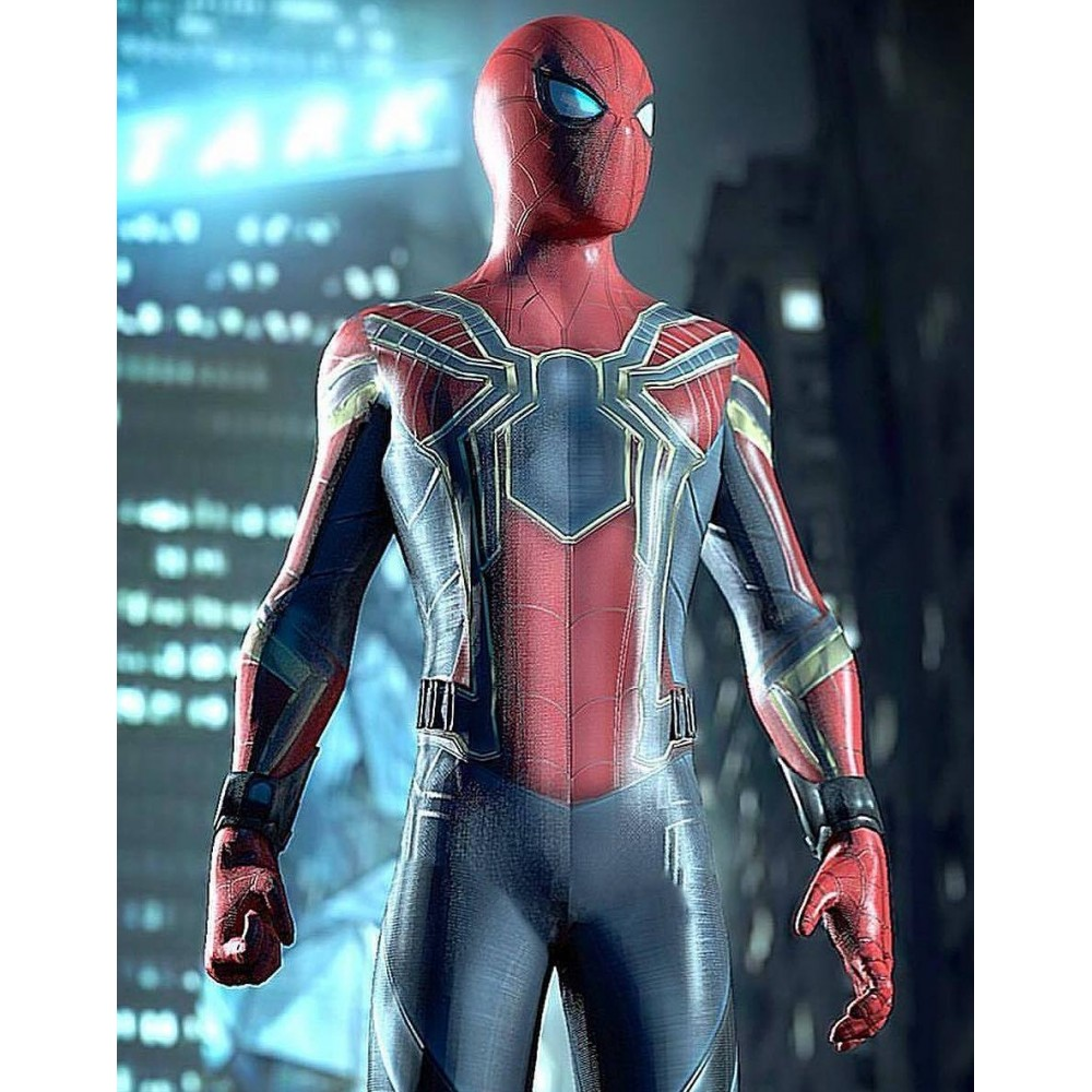 Spiderman Armor Avengers Infinity War Jacket | Superhero Leather Jacket