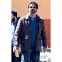 Gerard Butler Den of Thieves Brown Jacket | Distressed Leather Jacket