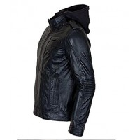 AJ Style Wrestler WWE Men's Black Leather Jacket | Leather Jacket For Men's