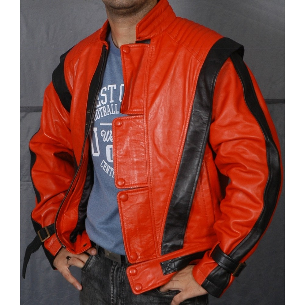 buy michael jackson thriller vintage 80s classic red