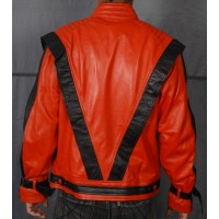Michael Jackson Thriller Vintage 80s Classic Red Leather Jacket | Leather Jacket For Men's