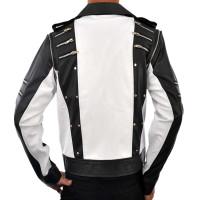 Michael Jackson Pepsi Ad 80s Classic Black White Leather Jacket | Men's Leather Jacket