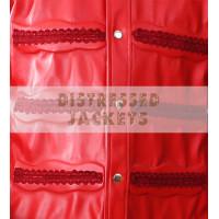 Sting Scorpion Red Leather Coat WWE Wrestlers Jacket | Men's Leather Jacket
